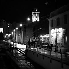 """Street Night"" (giannipaoloziliani) Tags: belltower dark darkness nikoncamera nikonphotography nikon streetphotography capturestreets monocromatico monochrome lightandshadow liguria shadows shapes lamps biancoenero blackandwhite notte night genova port portoantico genoa"