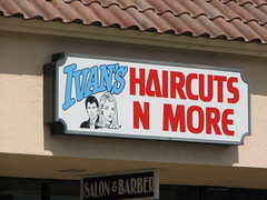 Ivan's Haircuts and More 0074 (Tangled Bank) Tags: ivans haircuts more 0074 barber small business sign signage