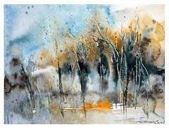 🍂 Rainy autumn 🍂 (wittmannsvetlana) Tags: aquarelle rainy autumn landscape painting watercolour watercolor artwork art