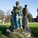 THREE STATUES ON AN INAPPROPRIATE PLINTH [KINGS INNS PUBLIC PARK]-149631