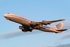 A7-HBJ (Andras Regos) Tags: aviation aircraft plane fly airport bud lhbp spotter spotting takeoff sunset qatar amiri boeing 747 jumbo jumbojet bbj 748