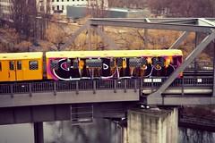 Berlin transit I (Jörn Pachl) Tags: berlin subway bvg graffiti streetart bombing train transit olympus
