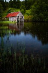 Scotland Boathouse on Lake by Scott Donschikowski.jpg (Scott Donschikowski) Tags: loch summer scotland britishisles lochachlachain inverness lake highland boathouse