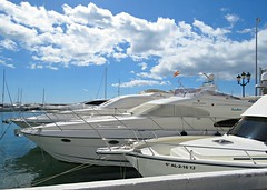 Puerto Banus Marina! ('cosmicgirl1960' NEW CANON CAMERA) Tags: marbella spain espana andalusia puertobanus costadelsol travel holidays blue boats sky yabbadabbadoo