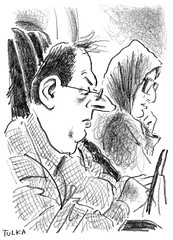 Airports and Planes 59 (Rick Tulka) Tags: paris newyork airportsandplanes airfrance caricature pencil drawing sketchbook