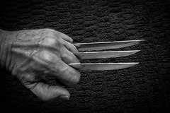 Blade (Eric.Ray) Tags: fist blade knife knives black white wah 2019 365 canon selfie portrait arms length