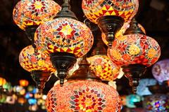 Lantern Lights (steve_whitmarsh) Tags: night lights lamps colours yellow red blue pattern london topic