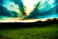 Interstate 5 HDR Sunset (danialficek1) Tags: landscape sunset interstate5 i5 oregon ankenyhill fields clouds hdr nikon d5000