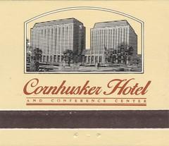 Cornhusker Hotel and Conference Center - Lincoln, Nebraska (The Cardboard America Archives) Tags: nebraska vintage motel hotel matchbook matchcover