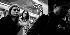 Last stop. (Baz 120) Tags: candid candidstreet candidportrait city contrast street streetphotography streetphoto streetcandid streetportrait strangers rome roma ricohgrii europe women monochrome monotone mono noiretblanc bw blackandwhite urban life portrait people italy italia grittystreetphotography faces decisivemoment