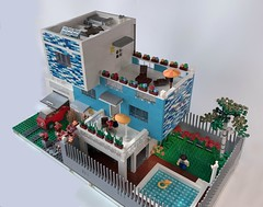 Blue_House_1 (Julio C. Cedena) Tags: moc afol architecture house lego ale