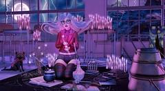 Love Spell (♥ Lucie ♥) Tags: sl second life horntail love spell avatar girl magic lightning hextraordinary tableau vivant punch balaclava mesh nation merak tentacio hpmd wednesday sarisari drd maitreya catya catwa bento cauldron candle