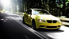auto_bmw_m3_yellow_road_forest_summer_4_1280x720 (andini.dermayu) Tags: car bmw yellow