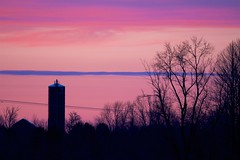 Farmland Sunset (imageClear) Tags: silhouette silo barn sunset evening pink pretty nature lovely aperture trees nikon d500 80400mm imageclear flickr photostream