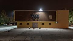 PN 243A_018006 01A S_Y (Darkly B) Tags: darklyb night street notte strada nightonearth light shadow urbanfragment architecture travel nighttravel kojak portofuori discoteca disco club