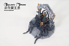 Atlan's-Throne11 (BrickElviN) Tags: lego moc dc aquaman castle ruin throne trident