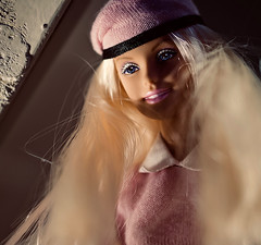 Under the shelf (johnsinclair8888) Tags: barbie doll frombelow lowlevel nikon d850 macromondays perspective affinityphoto 105mm sliderssunday