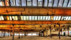 Alte Näherei Krefeld (lutzmarl) Tags: mies van der rohe architektur bauhaus 100 jahre orange fabrik halle fabrikhalle fenster licht nikon d7000 sigma 1770 hdr extrem