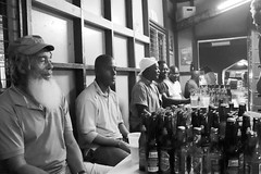 Friendly Fellows at the Oistens Fish Fry (mikeginn12000) Tags: barbados oistensfishfry bajan canon beer bar bw banks banksbeer lime christ church gibbons christchurch deputybeer