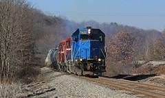 BPRR 7822 (GLC 392) Tags: gp382 conrail blue rsr bp bprr buffalo pittsburgh emd gp9 road slug gp403 rochester southern railroad railway train butler pa pennsylvania local 807 3807