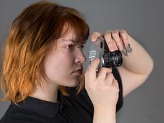 Michalina (piotr_szymanek) Tags: michanlina woman young face portrait studio hand redhead piercing nosepiercing eyebrowpiercing lipspiercing 1k 20f