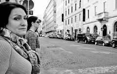 Look right. (Baz 120) Tags: candid candidstreet candidportrait city contrast street streetphotography streetphoto streetcandid streetportrait strangers rome roma ricohgrii europe women monochrome monotone mono noiretblanc bw blackandwhite urban life portrait people italy italia grittystreetphotography faces decisivemoment