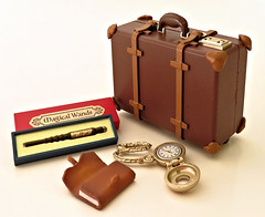 Antique Shop # 1 (MurderWithMirrors) Tags: rement miniature antique mwm suitcase valise magicwand box wallet watch