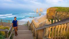 Along the 12 Apostles viewing boardwalk, Great Ocean Road (mandar_haridas) Tags: australia 12apostles apostles greatoceanroad melbourne victoria sunrise boardwalk