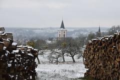 Ambiance d'un jour d'hiver (Croc'odile67) Tags: nikon d3300 sigma contemporary 18200dcoshsmc paysage landscape neige snow hiver winter clocher église arbres trees bois