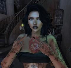 F*** you (Hanzworld) Tags: middle finger black dark hair tattoos piercings
