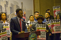 Ugo Okere for the 40th Ward Ward City of Chicago Aldermanic Candidates Press Conference to Support Civilian Police Accountability Council Chicago Illinois 1-9-19 5576 (www.cemillerphotography.com) Tags: cops brutality shootings killings rekiaboyd laquanmcdonald oversight reform corruption excessiveforce expensivelawsuits policeacademy