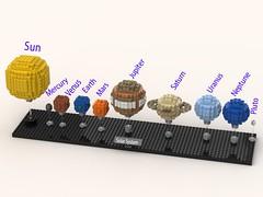 Lego Solar System (lachiec1023) Tags: lego solarsystem legosolarsystem space legospace legoideas digital designer ldd