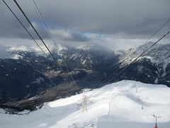 View from the Cable Car (gwackamo) Tags: cable car support skiing snow alps slope italy bormio