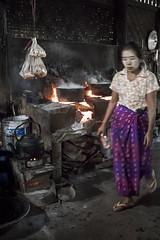 Hell's Kitchen - Ava, Myanmar (Daddi Andrea) Tags: myanmar burma burmese street travel asia southeastasia asean food ava kitchen traditional tanaka ghost restaurant longee mandalay people