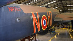 """Handley Page Halifax B.2 United Kingdom Air Force serial HR792 one side serial """"NP763"""" N-H7 and the other side serial """"LV907"""" NP-F (Erwin's photo's) Tags: yorkshire air museum allied forces memorial halifax way elvington york yo41 4au united kingdom england preserved aircraft royal force navy army raf rn handley page b2 serial hr792 one side np763 nh7 other lv907 npf"""