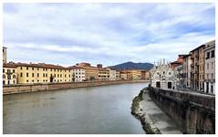 Arno and Santa Maria della Spina from Ponte Solferino (aiva.) Tags: italy pisa italia arno river bridge church toscana tuscany