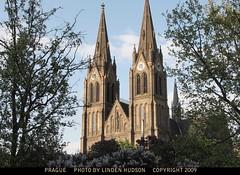 PRAGUE - CHURCH & SKY (lindenhud1) Tags: prague europe travel church gothic beautiful czechrepublic architecture oldbuilding oldchurch trees flowers blooms czechoslovakia praha bohemia prag