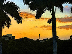 Sunrise in Sarasota (soniaadammurray - On & Off) Tags: digitalphotography manipulated abstract experimental picmonkey photoshop collage landscape sunrise architecture sarasota florida usa nature artchallenge artweekgallerygroup ~~~abstractnature~~~