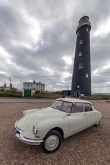 Vintage Citroën DS19 (Kam Sanghera) Tags: citroën citroen french car motor vehicle lighthouse dungeness kent canon eos 5d mark iii ef1124mm f4l usm ef 1124mm ef1124mmf4lusm ds19 id19 vintage ds21 ds classic landscape