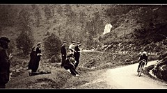 1913 TDF Descent of the Tourmalet (Sallanches 1964) Tags: tourdefrance 1913 tourmalet mountainstage philippethys tourdefrancewinners descent belgiancyclists