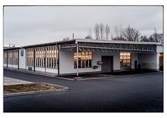 (schlomo jawotnik) Tags: 2019 märz braunschweig halle werkstatt pkw kunstlicht rolltor bäume usw