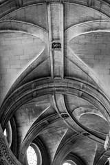 courbure (fred9210) Tags: arc monochrom church curves architecture église mouvements blackwhite