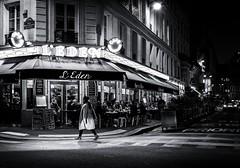 L'Eden (christiandumont) Tags: monochrome streetphotography streetphoto streetlife street blackandwhite blackwhite bw nb noiretblanc rue night nuit paris ruedeparis x100f fujifilm