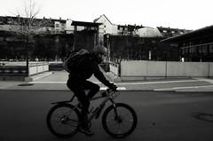 (formwandlah) Tags: kaiserslautern day street photography streetphotography schatten urban city strange melancholic melancholisch darkness light bw blackwhite black white sw monochrom high contrast ricoh gr pentax formwandlah thorsten prinz licht shadows paranoia monochromatic bicycle