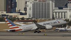 N814AA_LAS_Takeoff_1R (MAB757200) Tags: americanairlines b7878 n814aa aircraft airplane airlines airport jetliner las klas takeoff boeing mccarran runway1r