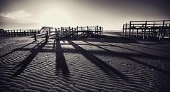 Shadows (dietmargötte) Tags: landschaft 14mm bnw beach strand nordsee shadows schatten sanktpeterording monochrom germany schleswigholstein norden