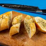 Sliced Bread Bruschetta on the wooden board thumbnail