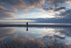 Selfie at St Bees (Nick Landells) Tags: lakedistrict lakelandphotowalks guided photo photography fell hill walk walks walking stbees beach cumbria sunset cloud clouds reflection reflections sandy pool