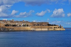 Valletta Cityscape (Douguerreotype) Tags: city historic buildings cityscape malta blue valletta architecture water