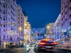 Gran Vía. (-COULD 2.0) Tags: granvía madrid spain sony alpha7 sonya7iii fe28mmf2 night noche ngc nocturna navidad city ciudad street
